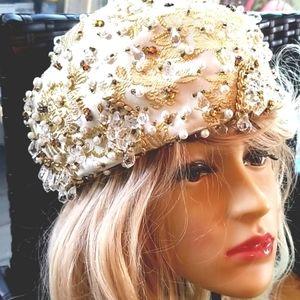 60's CHRISTIAN DIOR Chapeaux Paris NY Wedding Hat
